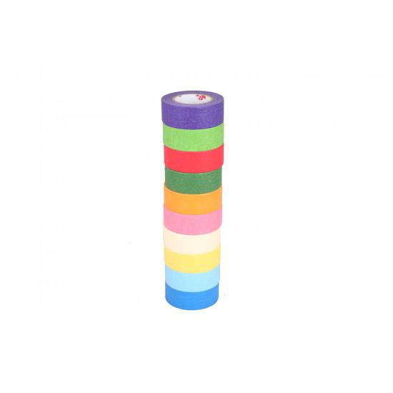 10 Adet Renkli Kağıt  Bant